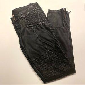 Free People Vegan Leather Moto Motorcycle Pants